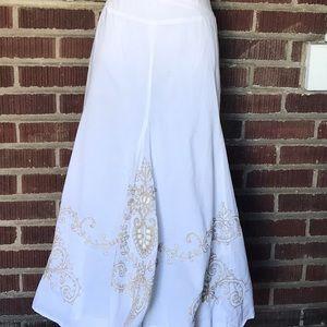 Karen Kane Women's White Flared Skirt